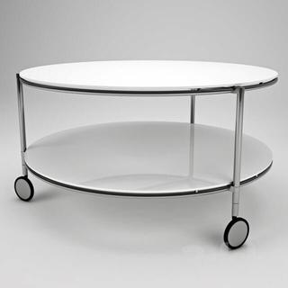 イケア(IKEA)の#着払い IKEA コーヒーテーブル STRIND 強化ガラス(コーヒーテーブル/サイドテーブル)