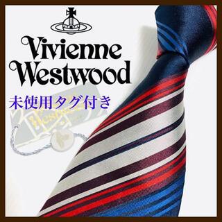 ヴィヴィアンウエストウッド(Vivienne Westwood)の【未使用タグ付き】ヴィヴィアンウエストウッド シルクネクタイ イタリア製 人気(ネクタイ)
