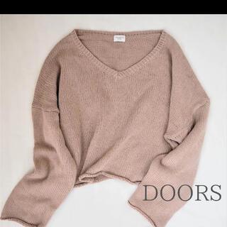 DOORS / URBAN RESEARCH - DOORS アーバンリサーチドアーズ ドロップショルダーVネックセーター