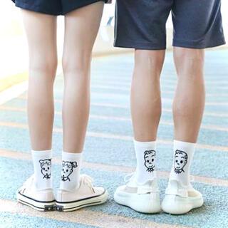 クツシタヤ(靴下屋)の2足セット♥ 大人気❣️韓国 靴下 白 オサムグッズ Osamu goods(その他)