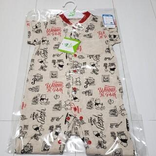 クマノプーサン(くまのプーさん)の新品未開封くまのプーさんさわやか素材半袖プレオール60〜70(カバーオール)