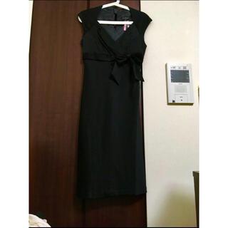 エムプルミエ(M-premier)の2.3万 新品 M-premier ドレスワンピース ブラック 38(ミディアムドレス)