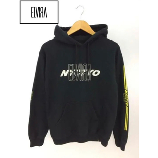 OFF-WHITE - ELVIRA ロゴ黒パーカー