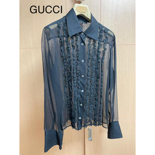 Gucci - GUCCI  シルクフリル ブラウス   正規店購入