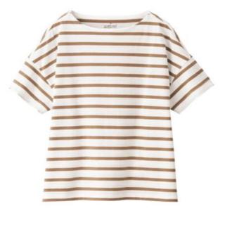 MUJI (無印良品) - 無印良品   太番手天竺編みボートネックワイドTシャツ