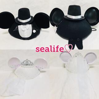 Disney - 香港ディズニー❣️ウエディングイヤーハット 2点セット ♡