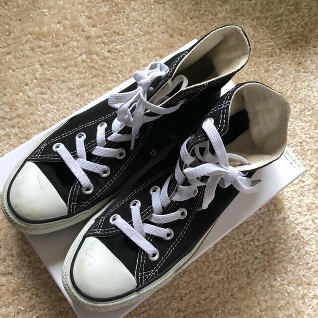 CONVERSE(コンバース)のCONVERSE コンバース オールスター ハイカット 24.0 黒 レディースの靴/シューズ(スニーカー)の商品写真