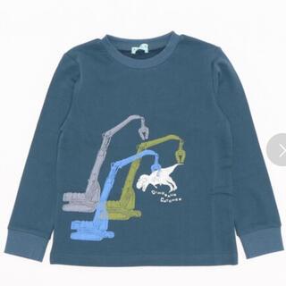 ハッカキッズ(hakka kids)の新品ハッカキッズショベルカープリント長袖スウェットトレーナー(Tシャツ/カットソー)