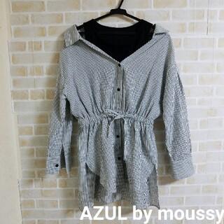 アズールバイマウジー(AZUL by moussy)のAZUL by moussy レイヤード風 トップス(カットソー(長袖/七分))