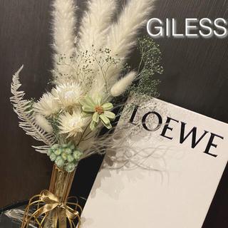 新作 S/S パンパスグラス テールリード グリーン ホワイト スワッグ 結婚式(ドライフラワー)