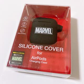 MARVEL - ◆新品未使用◆ MARVEL マーベル AirPods入れ シリコン ブラック色