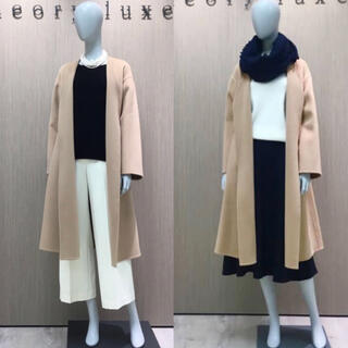 Theory luxe - theory luxe 18AW スモールサイズ ノーカラーコート
