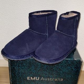 エミュー(EMU)のEMU ムートンブーツ/ネイビー 21cm(ブーツ)