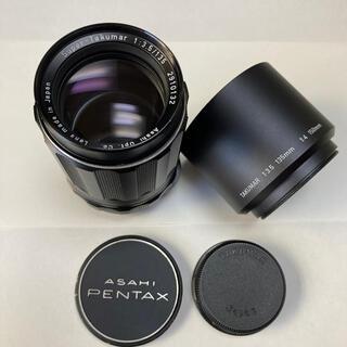 ペンタックス(PENTAX)の美品 M42銘玉 Super-Takumar 135mm F3.5 純正付属(レンズ(単焦点))