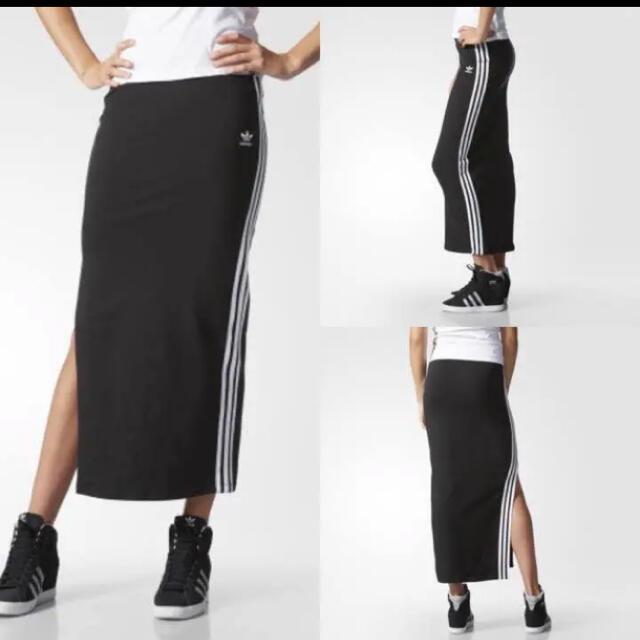 adidas(アディダス)のadidas originals タイトスカート スリット レディースのスカート(ロングスカート)の商品写真