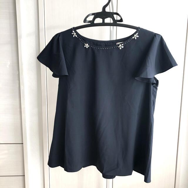 tocco(トッコ)のビジューブラウス レディースのトップス(シャツ/ブラウス(半袖/袖なし))の商品写真