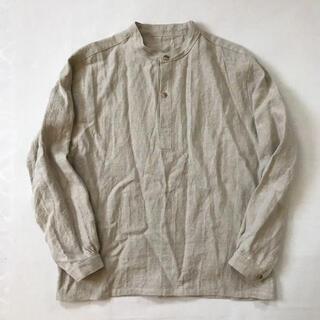 COMOLI - ナチュラルリネンのスモックシャツ