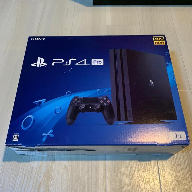 PlayStation4(プレイステーション4)のSONY PlayStation4 Pro 1TB 本体CUH-7100BB01 エンタメ/ホビーのゲームソフト/ゲーム機本体(家庭用ゲーム機本体)の商品写真