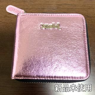 エックスガール(X-girl)のX-girl 二つ折り財布 ピンク 新品未使用(財布)