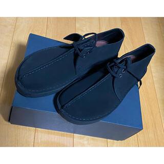 クラークス(Clarks)のClarksクラークス本革 レースアップ デザートトレック 黒6.5新品(ブーツ)