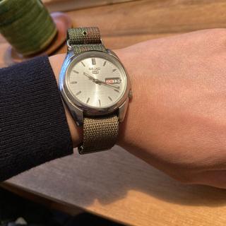 カシオ(CASIO)のセイコー5 逆輸入品 迷彩NATOストラップ付き(腕時計(アナログ))