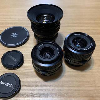 コニカミノルタ(KONICA MINOLTA)のミノルタ オールドレンズ3本セット(レンズ(単焦点))