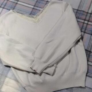 トランテアンソンドゥモード(31 Sons de mode)の専用品トランテアンソンデュモード❤️レース襟ニット(ニット/セーター)