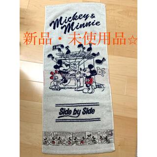 ディズニー(Disney)の【新品】ディズニー ミッキーマウス フェイスタオル マルシン(タオル/バス用品)