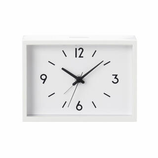 MUJI (無印良品) - 新品★無印良品★ 駅の時計・アラームクロック・アイボリー muji 置時計◆∞