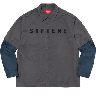 Supreme - Supreme 2-Tone Work Shirt Dark Grey L
