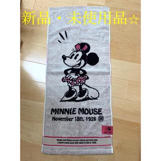 ディズニー(Disney)の【新品】ディズニー ミニーマウス フェイスタオル マルシン(タオル/バス用品)