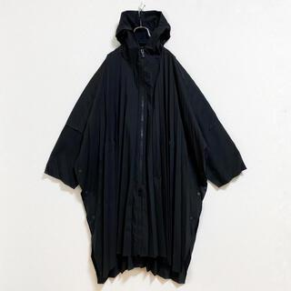 ISSEY MIYAKE - 【美品】オムプリッセ フード エッジコート メンズ 1 黒 コート プリーツ