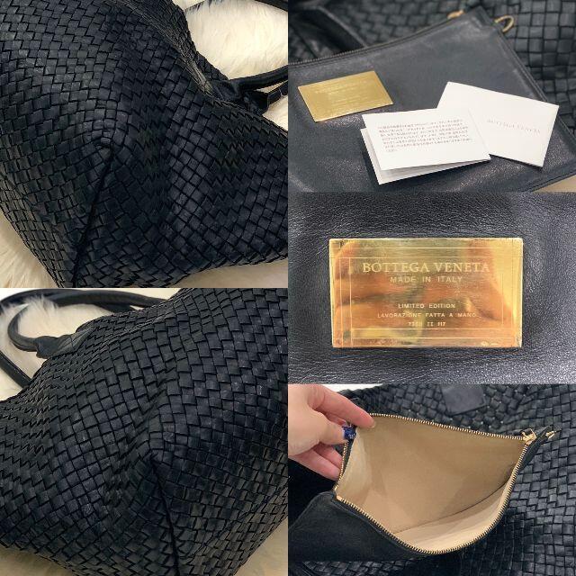 Bottega Veneta(ボッテガヴェネタ)の美品 ボッテガヴェネタ イントレチャート カバGM 黒 レディースのバッグ(トートバッグ)の商品写真