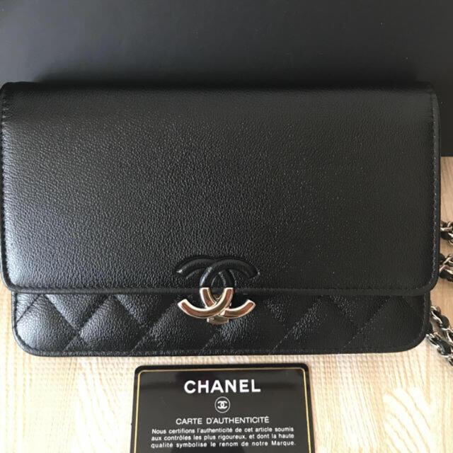CHANEL(シャネル)の【新品未使用】横浜 SOGO 購入 CHANEL シャネル チェーンウォレット レディースのバッグ(ショルダーバッグ)の商品写真
