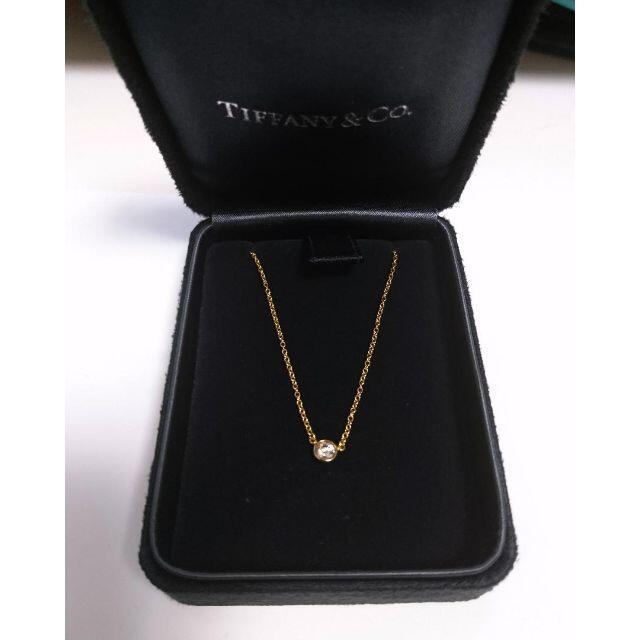 Tiffany & Co.(ティファニー)のティファニー ダイヤモンド バイザヤード ネックレス 0.12ct 箱有 レディースのアクセサリー(ネックレス)の商品写真