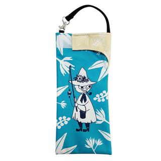 リトルミー(Little Me)の防水ポーチ 防水袋 ペットボトルケース 折り畳み傘ケース ムーミン スナフキン(日用品/生活雑貨)