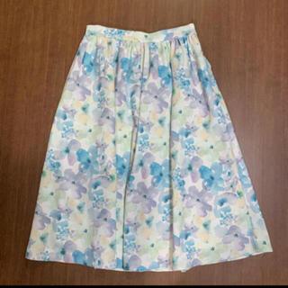 dazzlin - dazzlin 水彩フラワーミディスカート ブルー