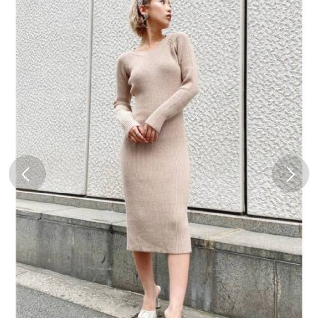 GYDA(ジェイダ)のジェイダニットワンピ レディースのワンピース(ひざ丈ワンピース)の商品写真