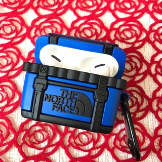 AirPods Pro カバー ブルー NORTH FACE シリコンケース