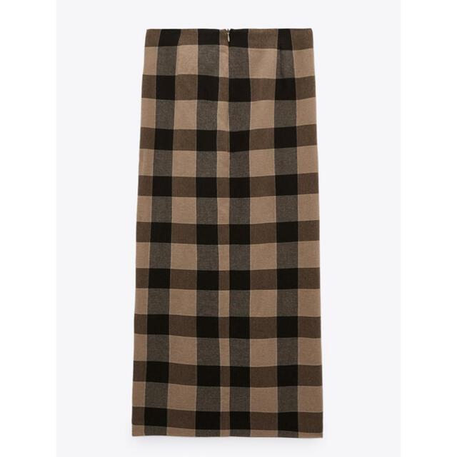 ZARA(ザラ)のZARA ノット付きチェック柄スカート新品 レディースのスカート(ロングスカート)の商品写真