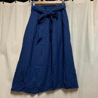 シマムラ(しまむら)のしまむら 膝下スカート ネイビー  M(ひざ丈スカート)