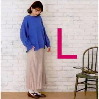 シマムラ(しまむら)のしまむら プチプラのあや L カットプリーツスカート 中肌色(ロングスカート)