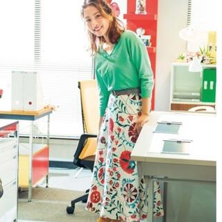 Lily Brown - 石原さとみ着用!リリーブラウン オリエンタル花柄スカート