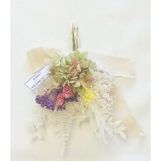 spring color mini swag(sweet pop) ハンドメイドのフラワー/ガーデン(ドライフラワー)の商品写真