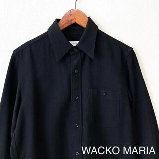 ワコマリア(WACKO MARIA)のWACKO MARIA ワコマリア ウールシャツ ブラック S(シャツ)