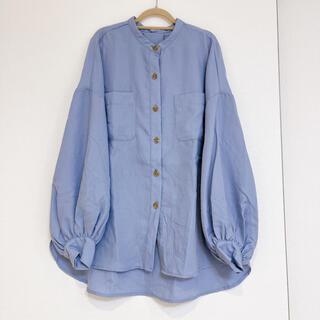heather - heather ノーカラーシャツ