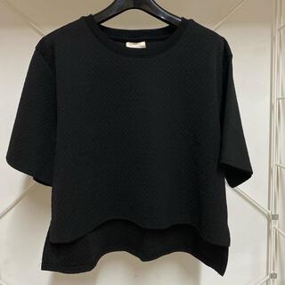 スタイルナンダ(STYLENANDA)のALAND  クロップ丈 半袖 トップス 黒(Tシャツ(半袖/袖なし))