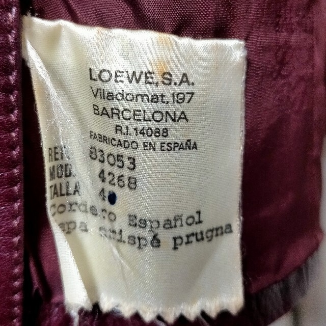 LOEWE(ロエベ)のLOEWE レザージャケット メンズのジャケット/アウター(レザージャケット)の商品写真