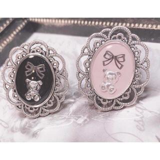 LIZ LISA - くまちゃんリボンシルバーリング♡指輪 量産型 地雷 メンヘラ リズリサ アンク