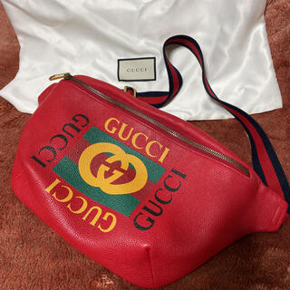 Gucci - GUCCI ヴィンテージロゴ ボディバッグ ウエストバッグ ウエストポーチ
